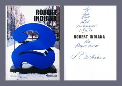 Robert Indiana, 'Robert Indiana (Hand Signed and Inscribed with Star Drawing by Robert Indiana)', 2003