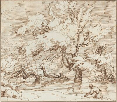 Claude-Joseph Vernet, 'Trees Reflected in a Brook'