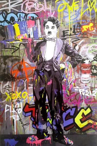 Mr. Brainwash, 'Charlie Chaplin, signed', 2008