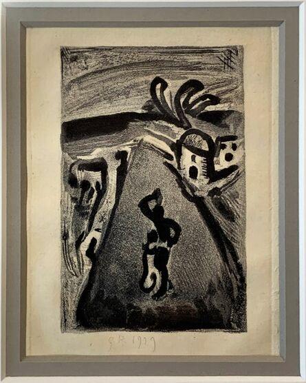Georges Rouault, ' Landscape with Negress Carrying a Jug on Her Head [Paysage avec Négresse Portant une Cruche sur la Tête]', 1955