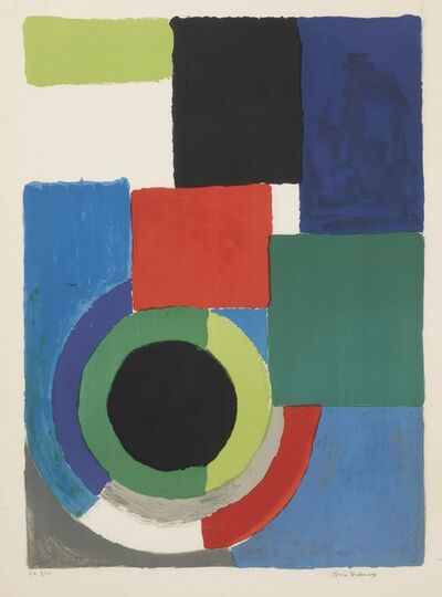 Sonia Delaunay, 'Untitled and Grand carré rouge', 1964 and circa 1970 respectively