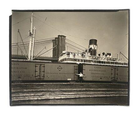 Berenice Abbott, 'Waterfront from Pier 19 East River, Manhattan, August 12', 1936