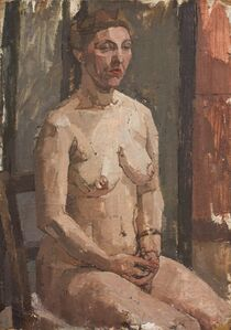 Euan Uglow, 'Seated Nude', ca. 1954