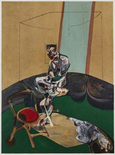 Francis Bacon, 'George Dyer Fixing a Curtain Cord', 1966