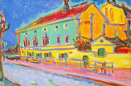 Ernst Ludwig Kirchner, 'Houses in Dresden', 1909/1910