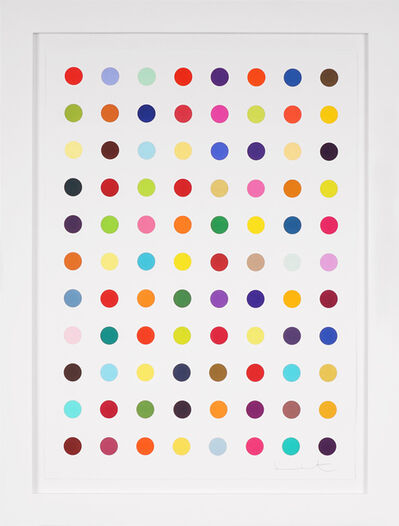 Damien Hirst, 'Vertical 'Spots' III, Woodcut ', 2018