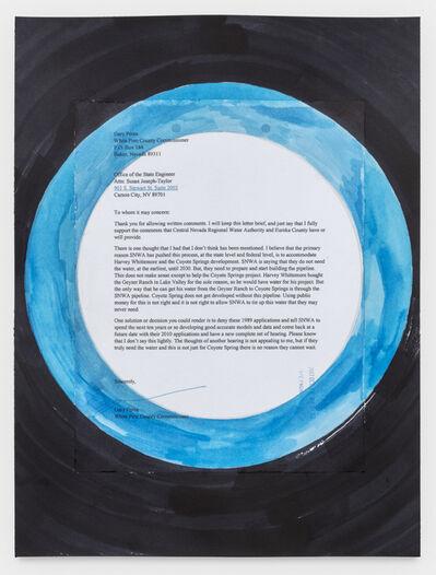 Oscar Tuazon, 'Chain Letter (Gary Perea) Public Comment, SNWA Pipeline', 2020