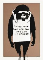 Banksy, 'Laugh Now Signed', 2004