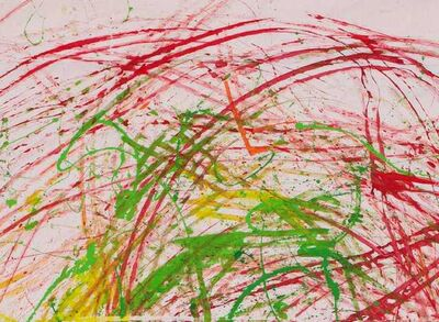 Marzena Turek-Gaś, 'ACTION PAINTING III (Painting JAZZ Ride) Composition Red 3', 2009