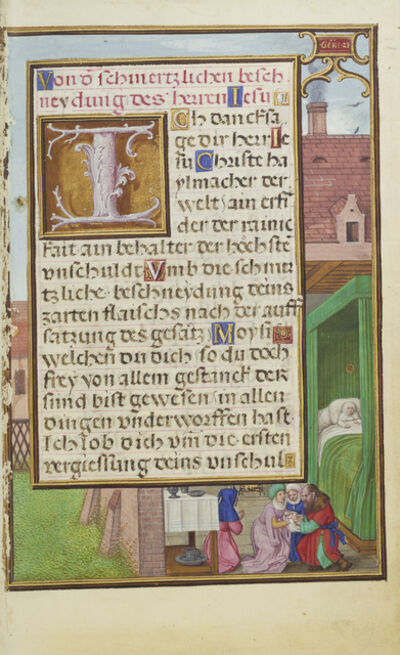 Simon Bening, 'Border with the Circumcision of Isaac', 1525-1530