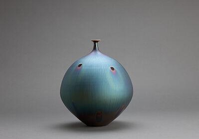Hideaki Miyamura, 'Vase, peacock glaze'