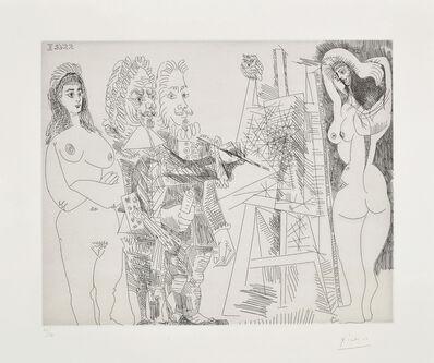 Pablo Picasso, 'L'Atelier, avec un hibou et un envoyé officiel (The Studio, With an Owl and an Official Envoy), plate 65 from the 347 Series', 1968