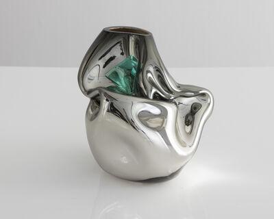 Jeff Zimmerman, 'Unique petite crumpled sculptural vessel', 2017