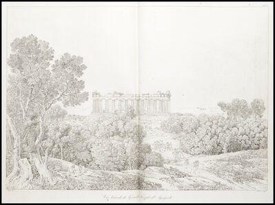 Louis-François Cassas, 'Vue laterale du grand temple d'agrigente', 1813