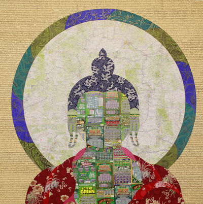 Tenzing Rigdol, 'Instant Buddha Scratch Your Karma #2 即刻佛陀 刮刮你的業力', 2011