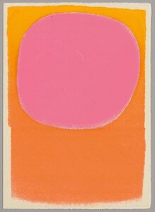 Rupprecht Geiger, 'Rot in Rot/orange - leuchtrot', 1962