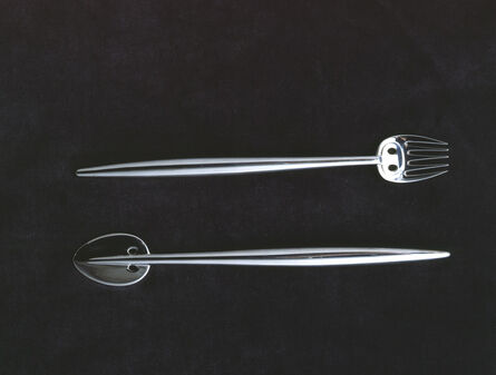 Charles Rennie Mackintosh, 'ish knife and fish fork for Charles Rennie Mackintosh and Margaret Macdonald Mackintosh'