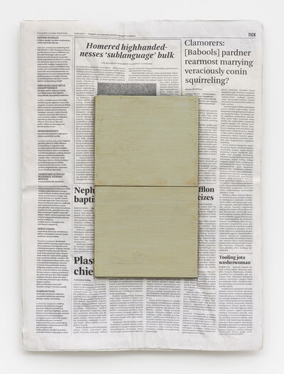 Mark Manders, 'Composition with Two Colours', 2005-2020