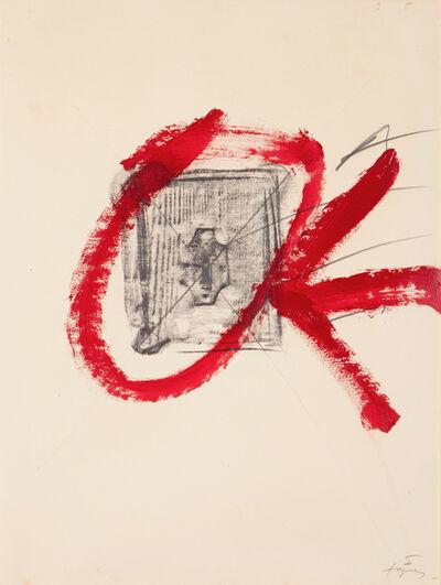"""Antoni Tàpies, 'Study for the poster """"Campanha d'Educació pels Drets Humans""""', 1981"""
