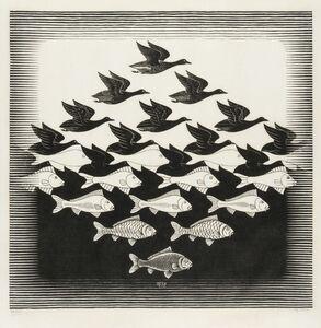 Maurits Cornelis Escher, 'Sky and Water I (Bool 306)', 1938