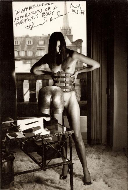 Helmut Newton, 'Susy Dyson, 55 Quai Voltaire, hommage a Bellmer', 1978
