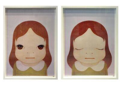 Yoshitomo Nara, 'Cosmic Girl, Eyes Open and Close (Framed)', 2008