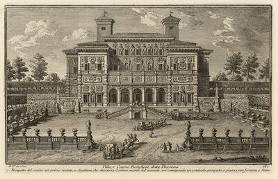 Giuseppe Vasi, 'Villa, e Casino Borghese detta Pinciana', 1747-1801