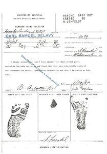 Hans Haacke, 'Birth Certificate of My Son (collaboration Linda & Hans Haacke)', 1969