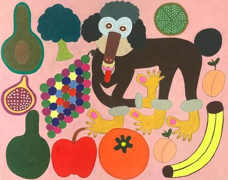 Raquel Albarran, 'Kayla the Poodle with Meatball Toes, Fruits and Vegetables', 2018