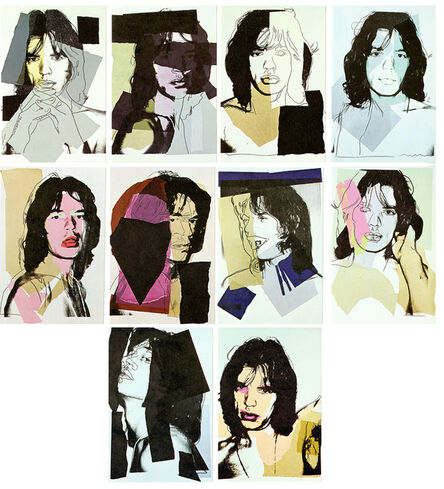 Andy Warhol, 'Andy Warhol Mick Jagger complete set of 10 Leo Castelli announcements ', 1975