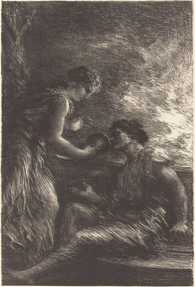 """Henri Fantin-Latour, 'Sieglinde and Siegmund from Act I of """"The Valkyrie""""'"""