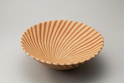Ito Sekisui V, 'Mumyōi Neriage; Large Bowl with Line Patterns ', 2016