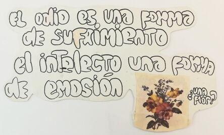 Fernanda Laguna, 'El odio es una forma de sufrimiento (Hate is a way of suffering)', 2000