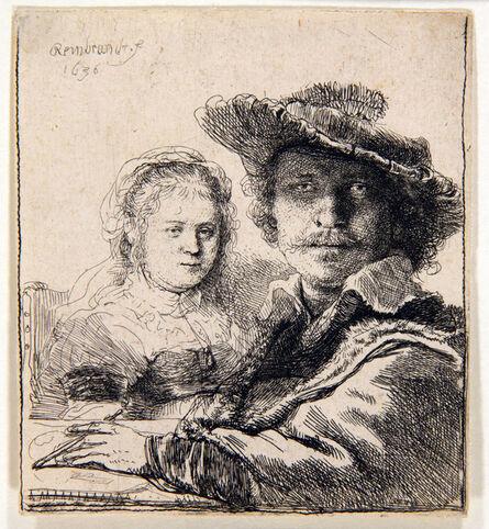 Rembrandt van Rijn, 'Rembrandt and his wife Saskia ', 1636