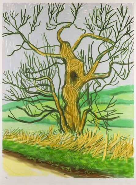 David Hockney, 'The Arrival of Spring in Woldgate, East Yorkshire in 2011 (Twenty-Eleven) - 22 March 2011', 2011