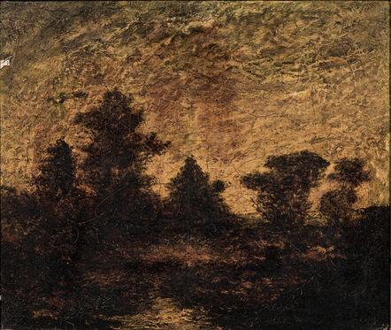 Attributed to Ralph Albert Blakelock, 'Landscape at Dusk'