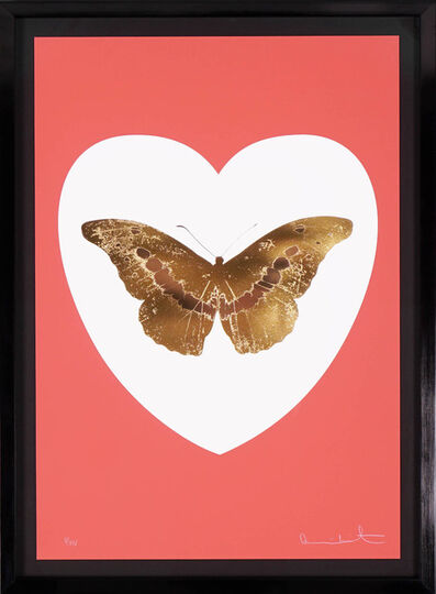Damien Hirst, ''I Love You' Butterfly, Coral/Gold ', 2015