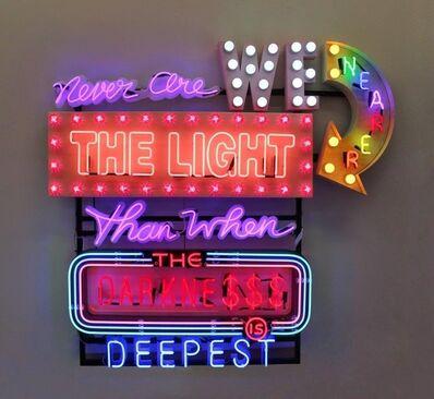 Chris Bracey, 'NEVER ARE WE NEARER THE LIGHT'
