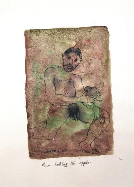 Tasaduq Sohail, 'Man holding the Apple', 1987