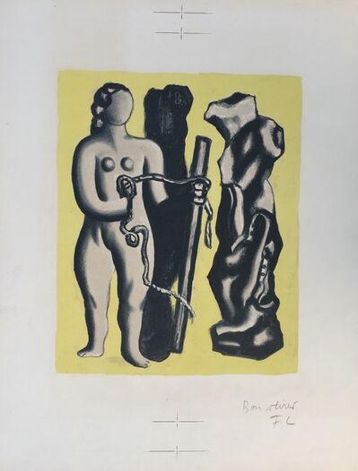 Fernand Léger, 'Femme sur fond jaune (Woman on yellow background)', 1952