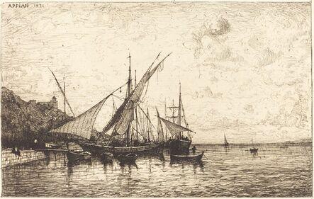 Adolphe Appian, 'The Port of Monaco', 1873