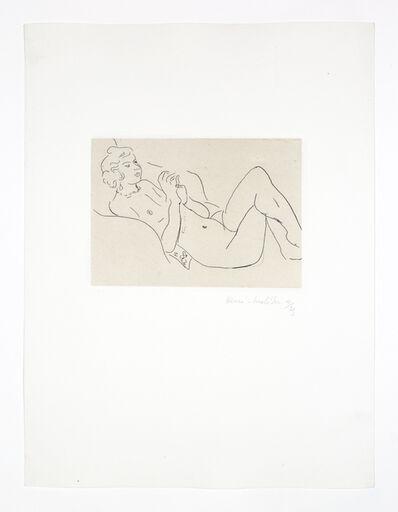 Henri Matisse, 'Nu allongé, les jambes repliées, avec un collier', 1929