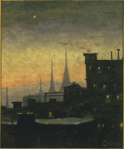 Louis Michel Eilshemius, 'New York Roof Tops', ca. 1935