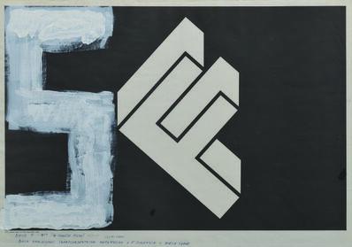 Stano Filko, 'WHITE, 1977, (40 ANIVERSARY ), 1937-1977, EGO - WHITE ONTOLOGY TRANSCEDENTAL METAPHYSIC + 5. DIMENSION + WHITE CAKRA', 1977