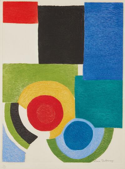 Sonia Delaunay, 'Deux cercles sous carrés', 1970