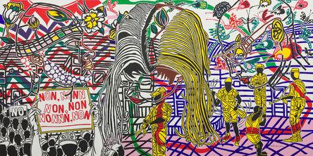 Boris Nzebo, 'Révolte 01 (diptych)', 2016