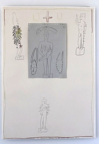 James Brown, 'Untitled #3  (Drawing/collage on paper)', ca. 1983