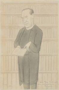 Max Beerbohm, 'Dean Inge Finding, as Ever, Sustenance in Plotinus', 1931