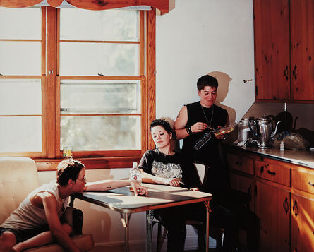 Catherine Opie, 'Emily, Sts, & Becky, Durham, North Carolina from the series Domestic', 1998