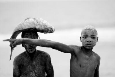 Mário Macilau, 'Two boys with fish', 2018